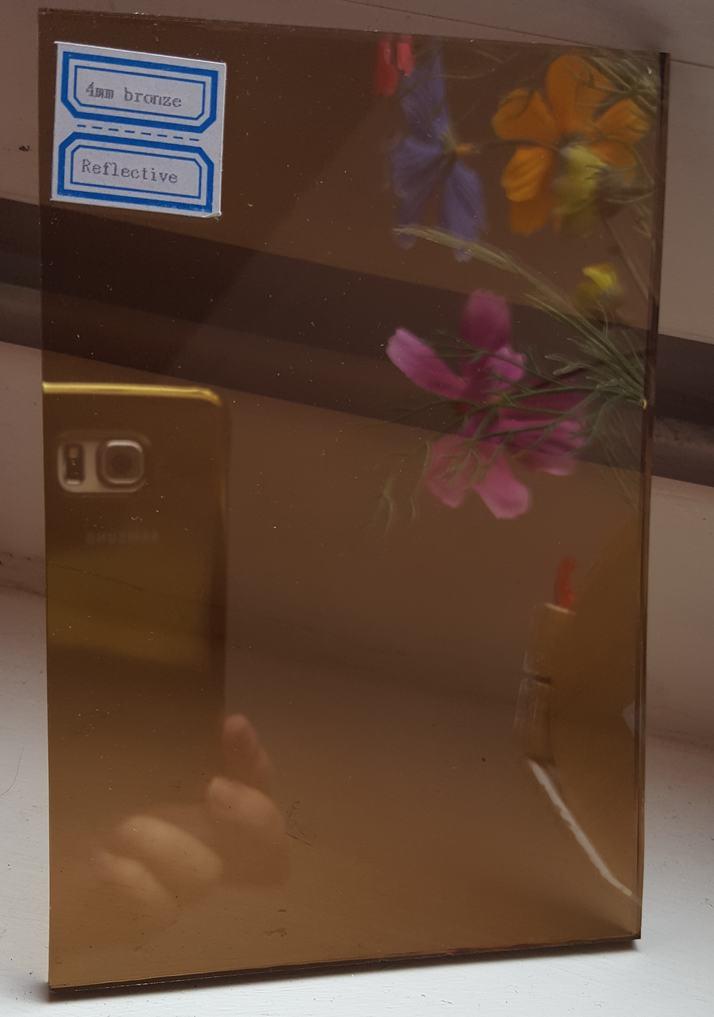4mm bronze reflective glass