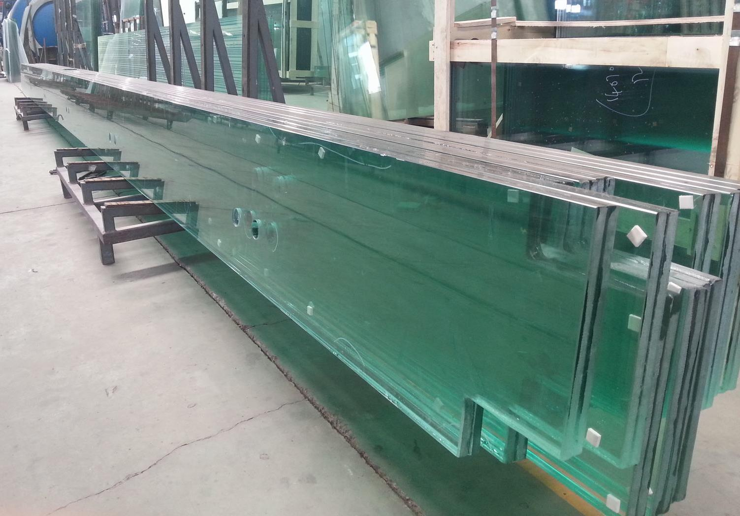 Ultra length tempered glass