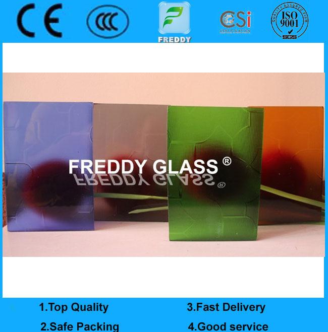 3.5mm Colored karatachi Patterned Glass