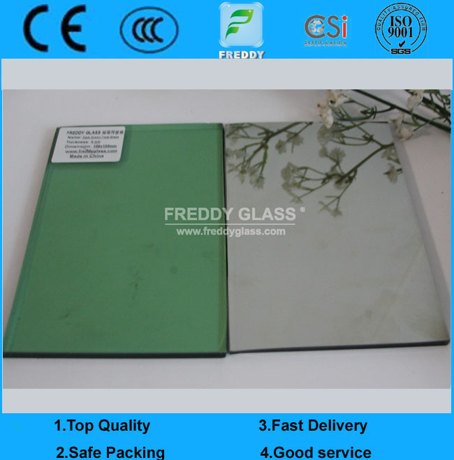 4mm Dark Green Reflective Glass