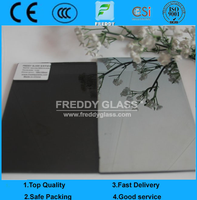 4mm Dark Grey Reflective Glass