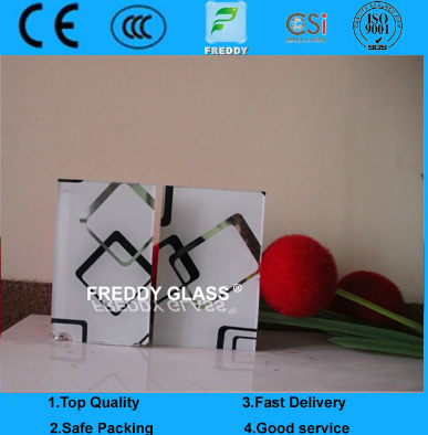 6mm, 8mm Silk Screen Printing Tempered/Toughened Glass Door for Furniture