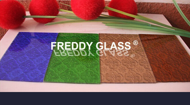 Flora Colored Patterned Glass in Top Quality