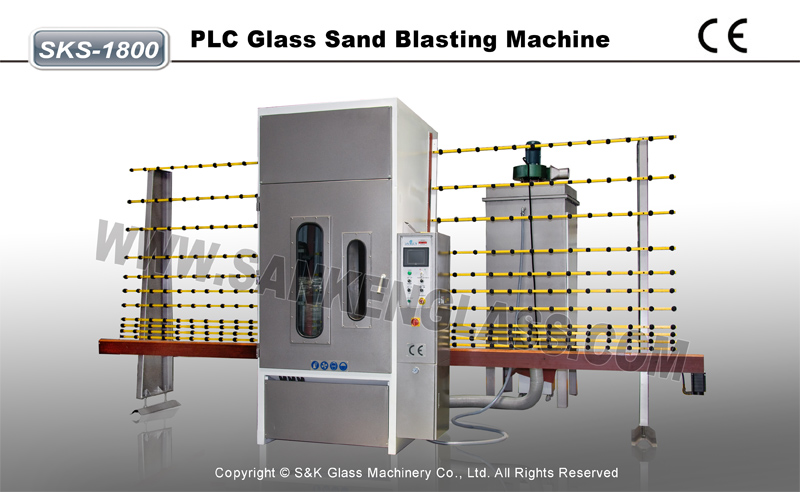 Automatic Glass Sand Blasting Machine SKS-1800