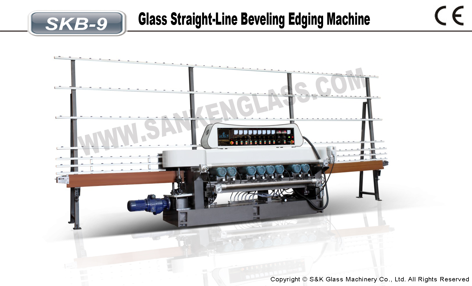 SKB-10 Hot Selling Mirror Glass Beveling Machine
