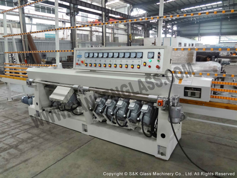 11 Spindles Straight Line Glass Edging Machine Angle Changing