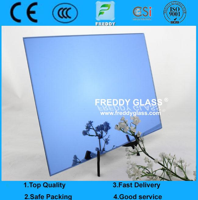 4mm Dark Blue Silver Mirror