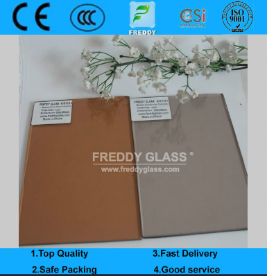 Tinted/Colored/Stained Bronze/Brown Float Glass/Euro Bronze Float Glass/Golden Bronze Float Glass/Fo