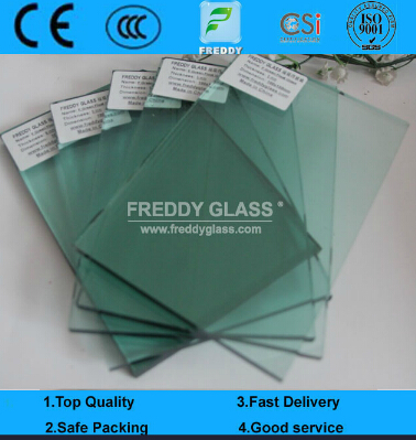 3-12mm High Quality F Green Reflective/ French Green Reflective Window Glass