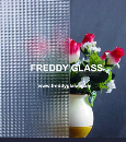 3mm-8mm Clear Crystal Patterned Art Glass in Good Quality