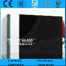 4.38mm-25.52mm Clear/Colored PVB Film Black Laminated Glass