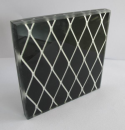 6+6mm Wire lamianed glass with aluminum material