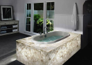 Resin natural agate /onyx laminated glass for bathroom