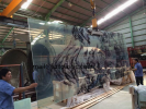 Hot sale oversize screen printing tempered lamnated glass for building facade direct supplier