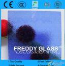 3-10mm blue flora pattern glass/blue flora patterned glass/blue rolled glass/blue figured glass/blue