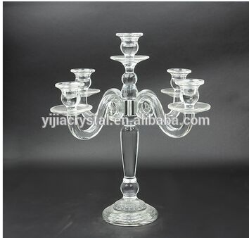 2016 hot sell Crystal Candelabra for wedding centerpiece decoration