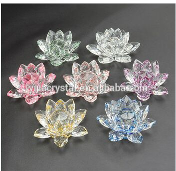 2016 Colorful Crystal Lotus Wholesale For Wedding Gifts
