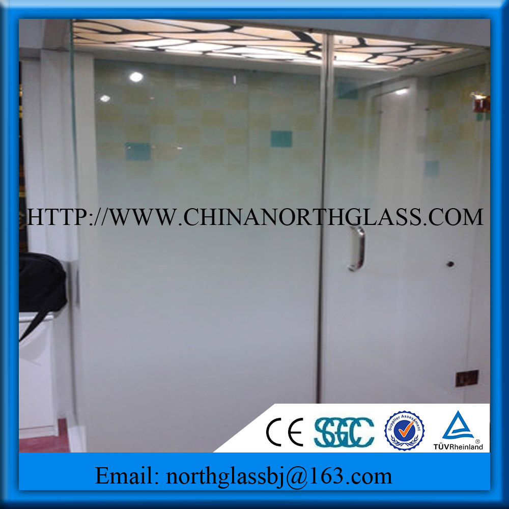 Widely Used 10mm Acid Etched Gradient Shower Door-Building Glass ...