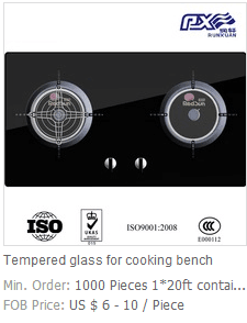 tempered cooking bench glass