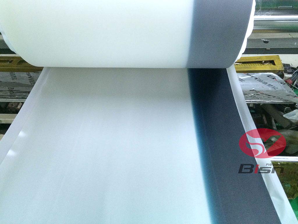 0.76mm Automotive Grade Blue Band on Clear PVB interlayer film