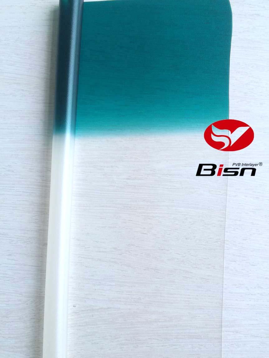 0.76mm Automotive Grade Green Band on Clear PVB interlayer film