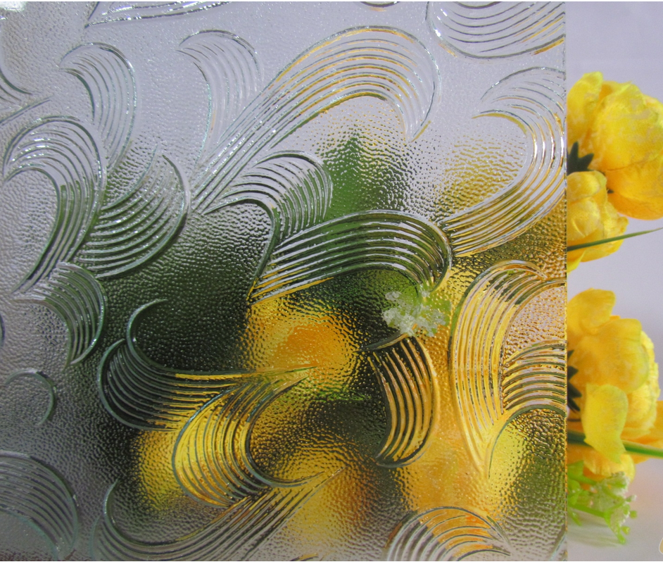 Clear Patterned Glass-Mayflower