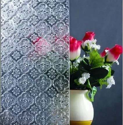 Clear Patterned glass- Flora