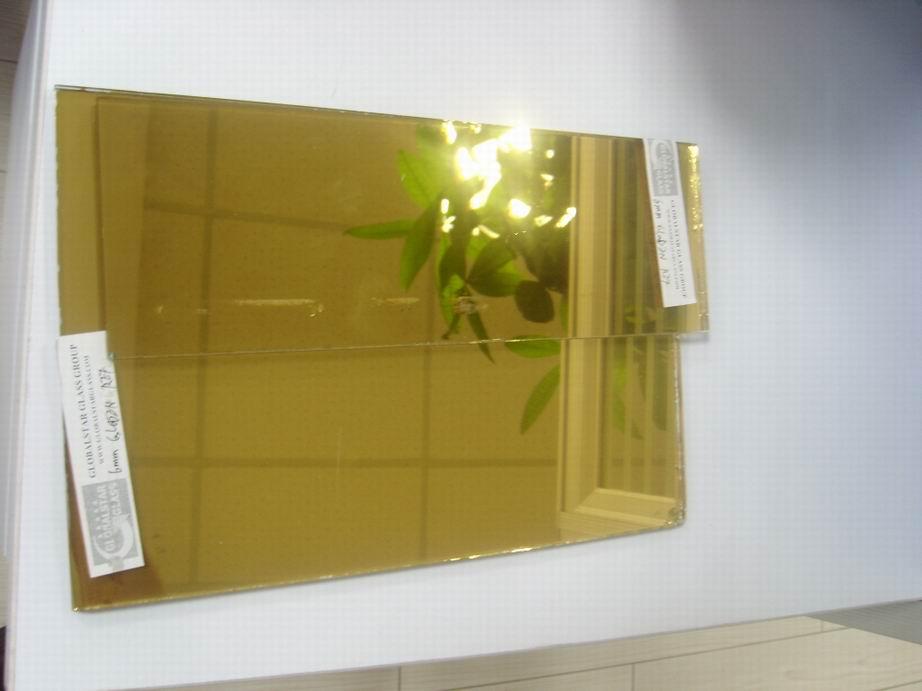 4mm-6mm Gloden reflective glass
