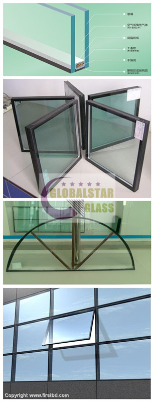 6mm+12A+6mm Double glazing glass