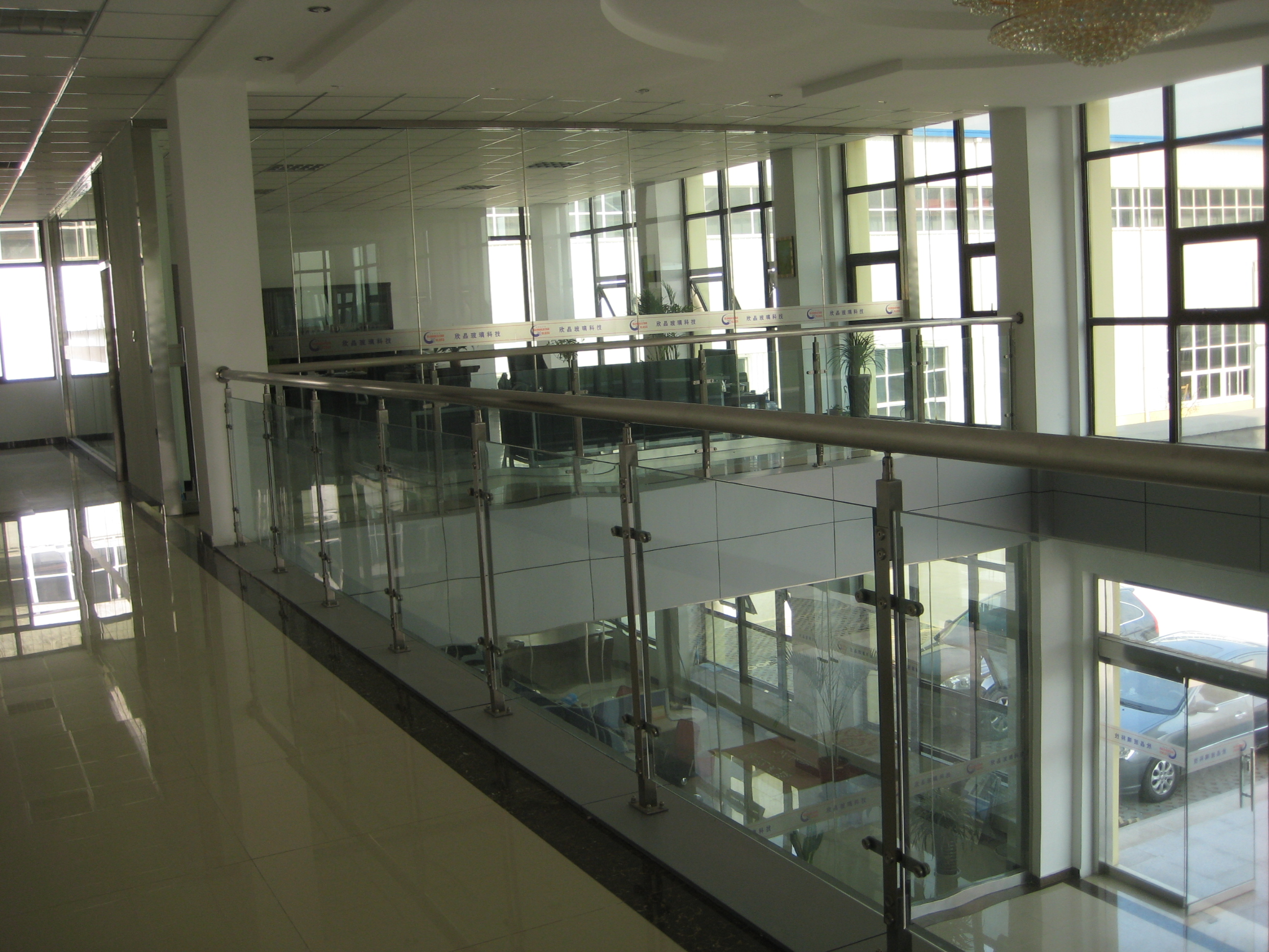 12.52mm Tempered PVB Laminated glass clear and color
