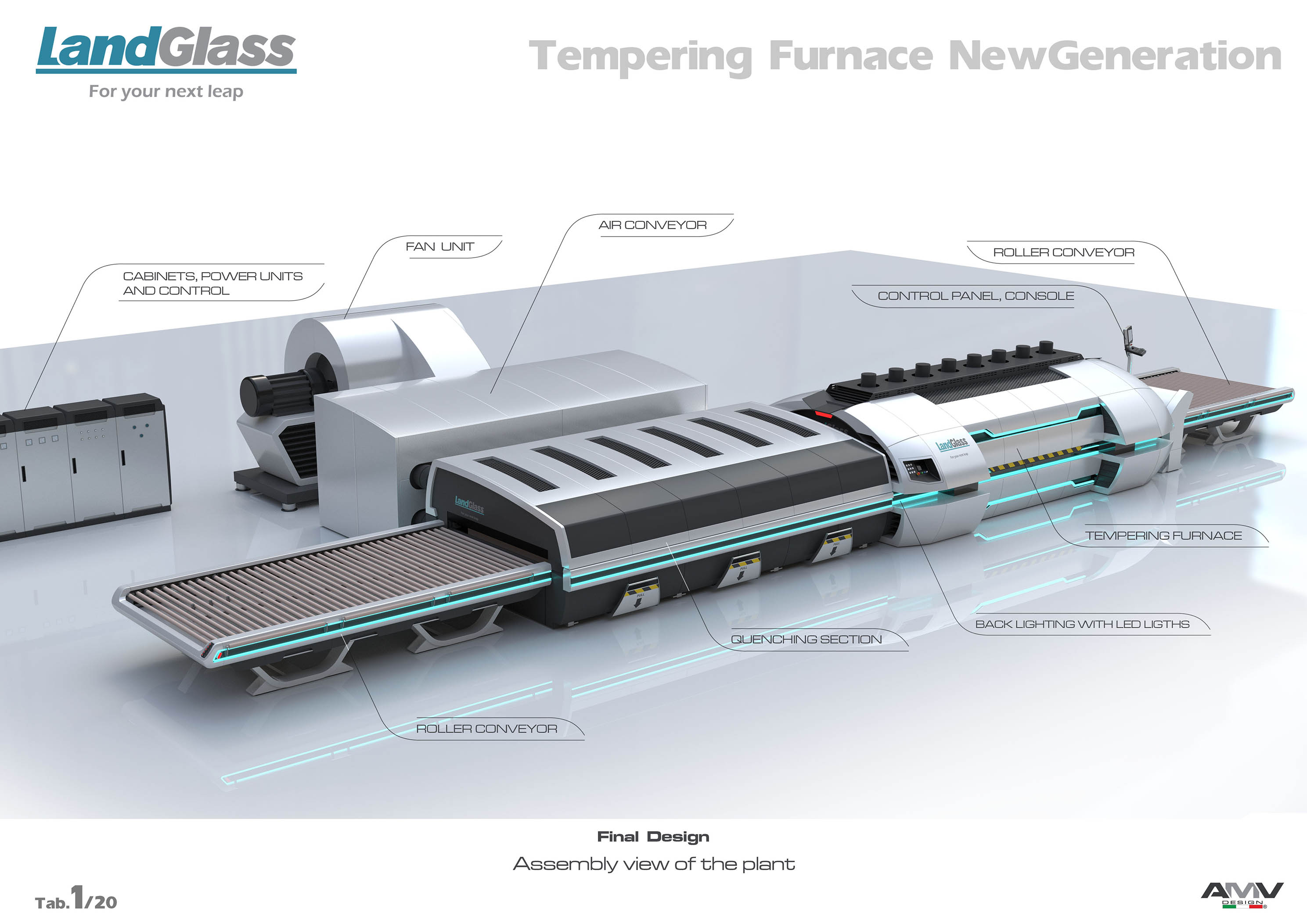 Cyclone Flat Glass Tempering Furnace