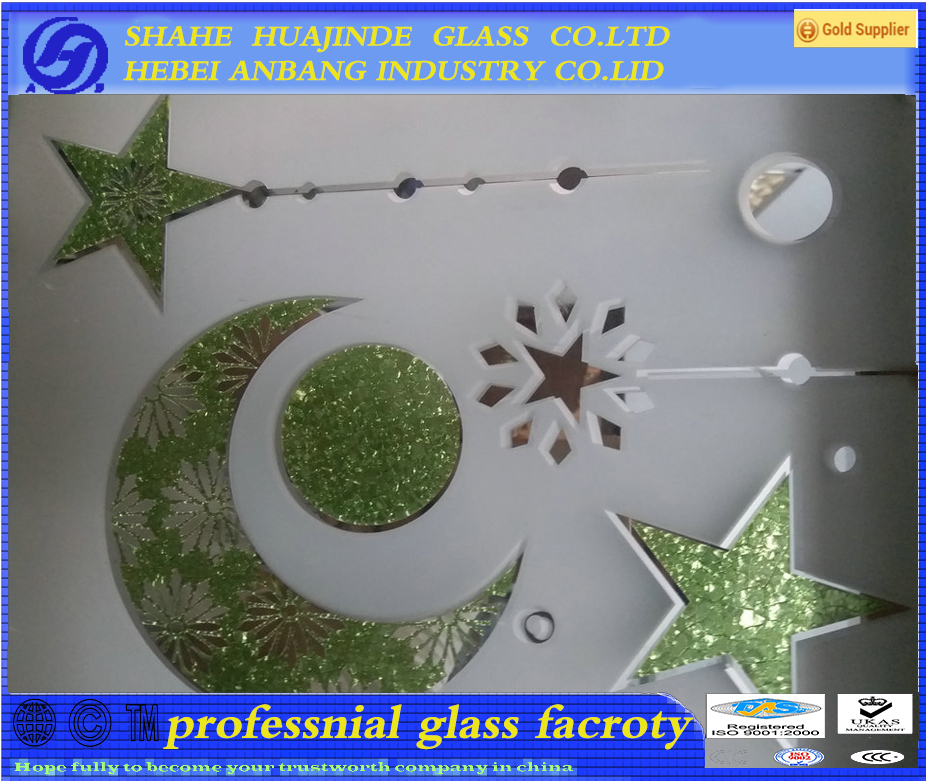 Ice acid decorative glass, glud chip pattern glass, Ice flower art glass ,ceiling/backlit/door glass