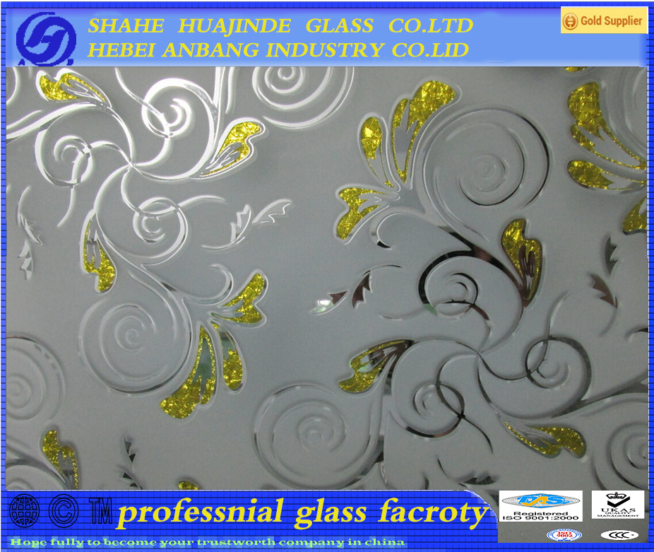 decorative glass, window glass, Ice flower art glass ,ceiling/backlit/door glass, Iraq market