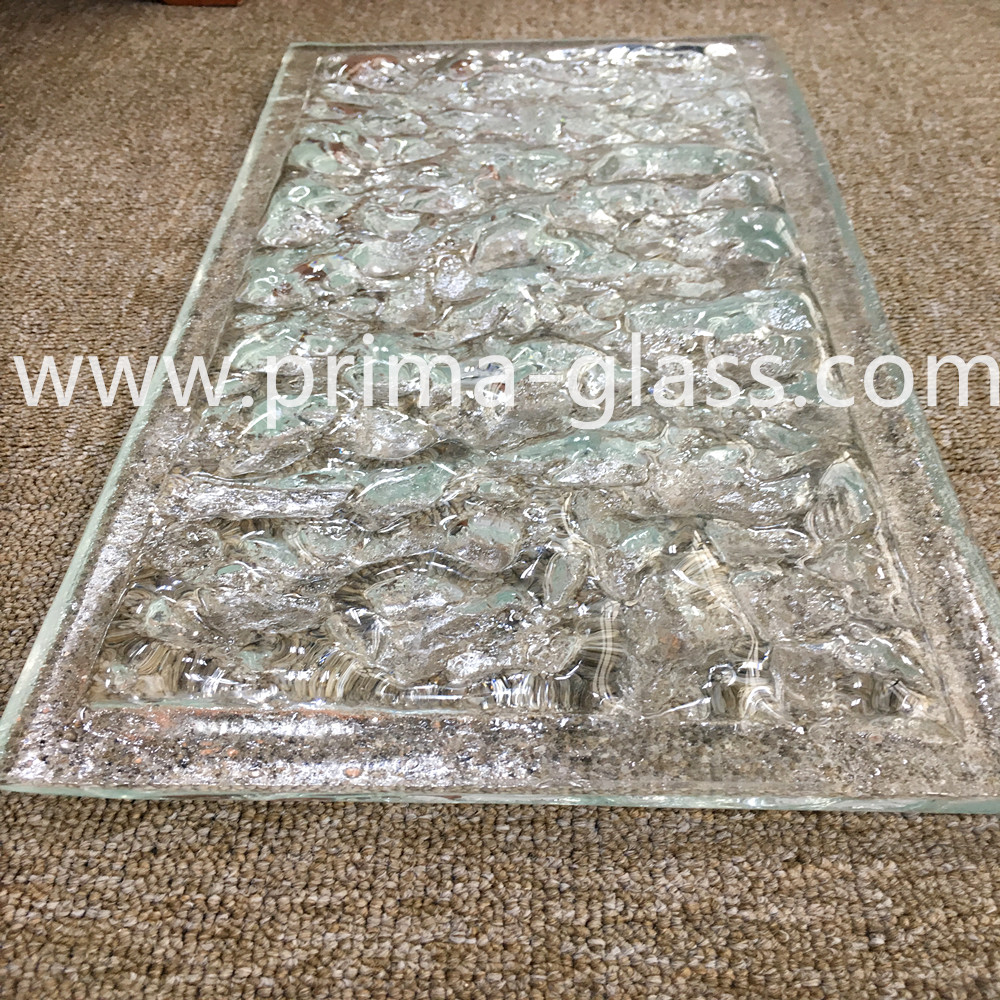 Prima artistic cast glass fused glass kiln glass for hotels decorations