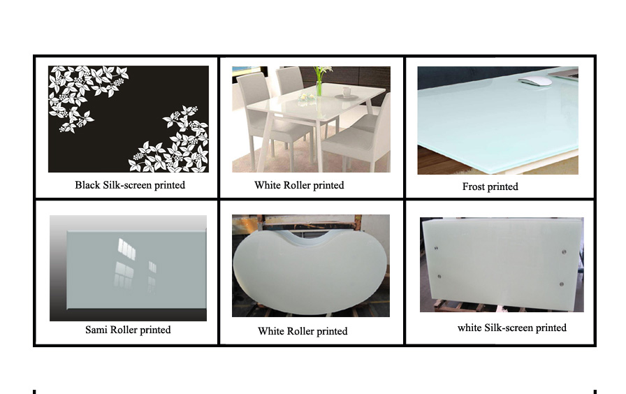 SGCC CSI CE certification of printed toughened glass table top