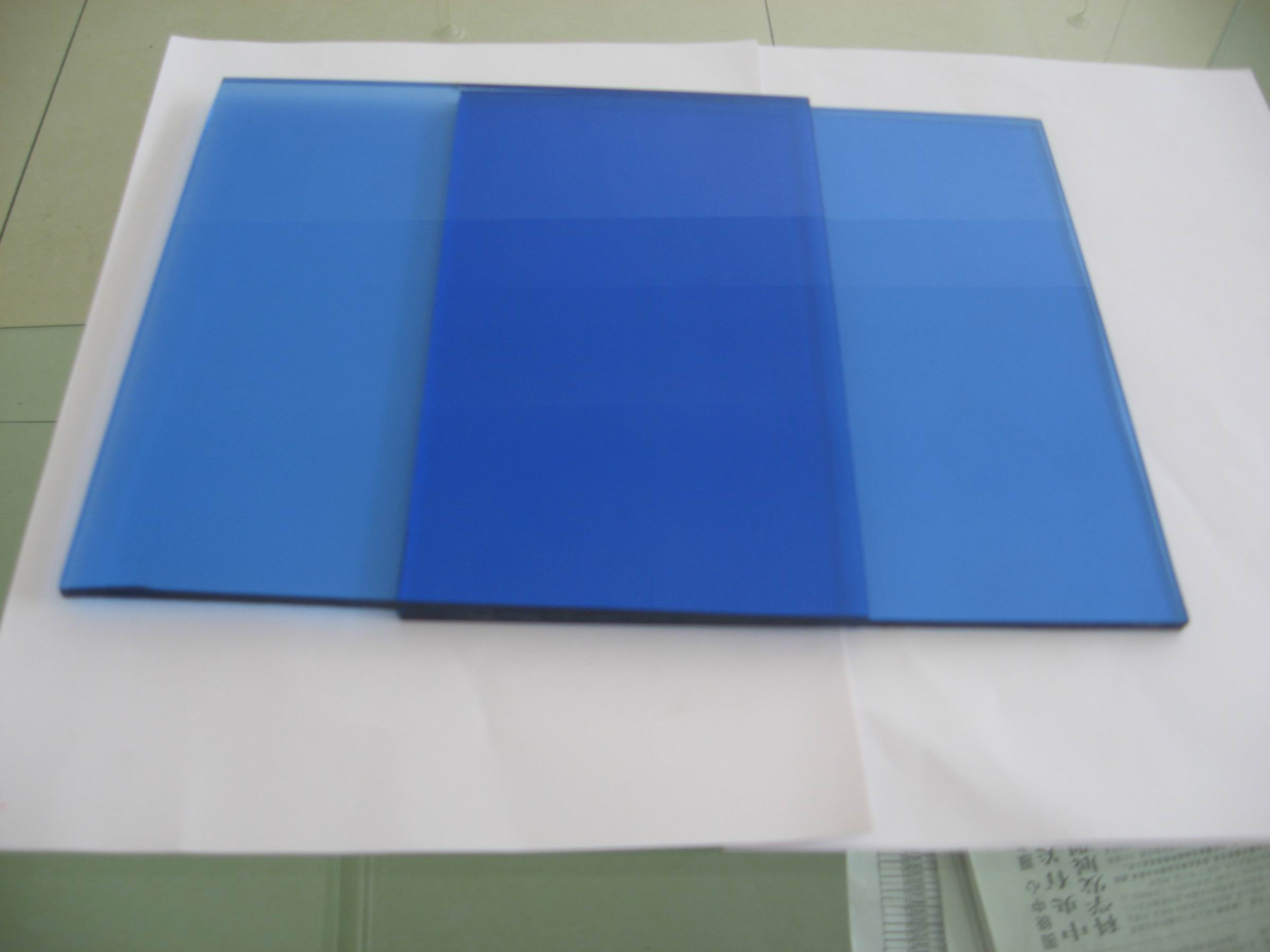 tempered colored glass