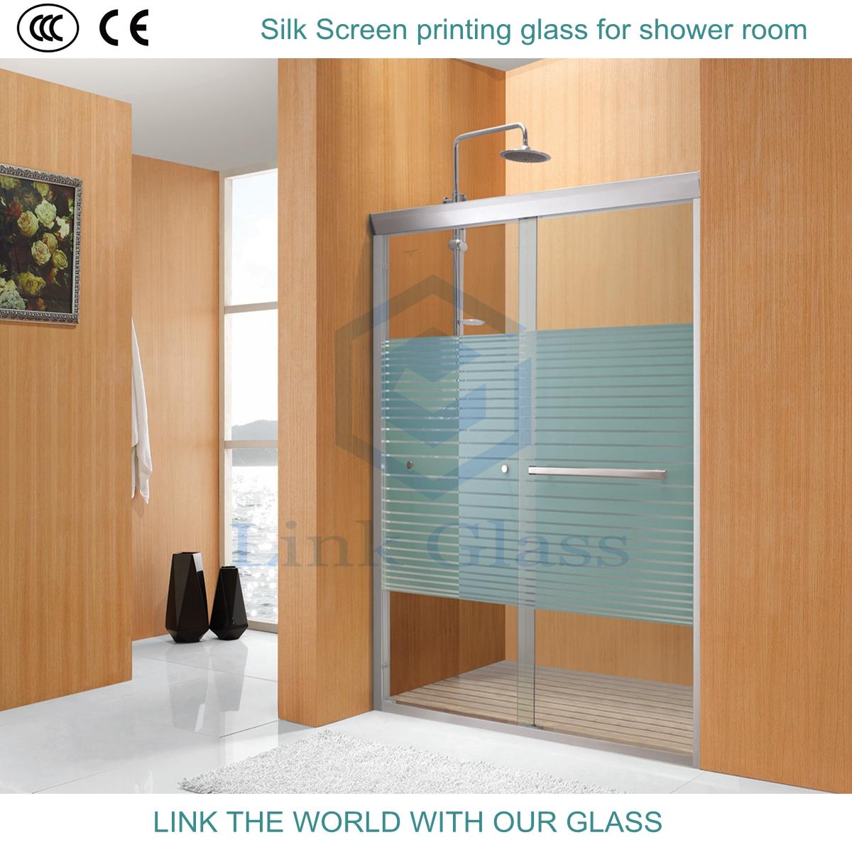 12mm Tempered Acid Etched Frosted Glass for Shower Room-Bathroom ...
