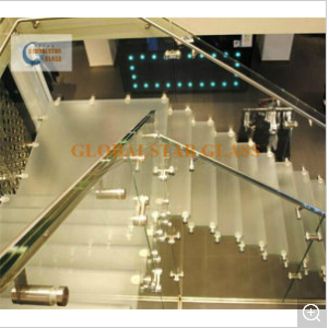 10.38mm Clear PVB/ Milk White PVB Laminated Glass