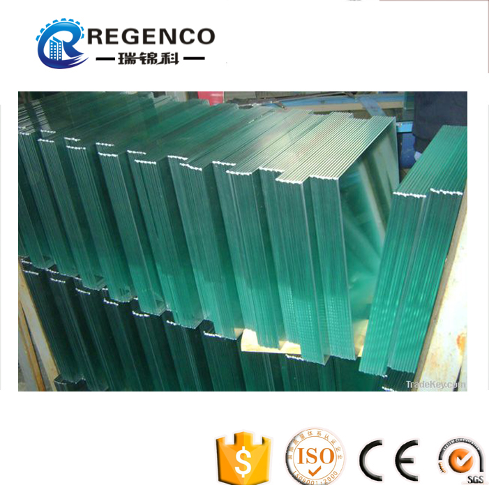 Tougened/Tempered Glass/Door with edge grinding/Beveled/Polished edge