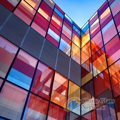 colored  pvb film laminated glass