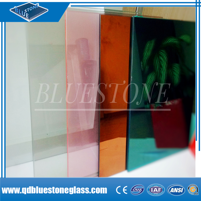 6.38mm clear and colored laminated glass