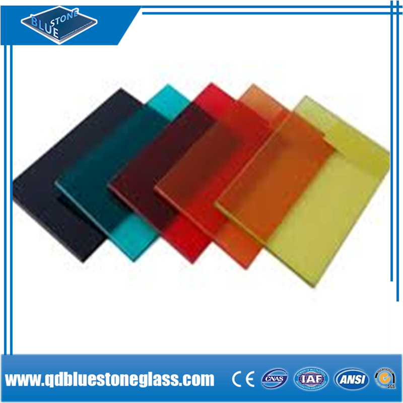 6mm 8mm 10mm thick decorative laminated figured safety glass