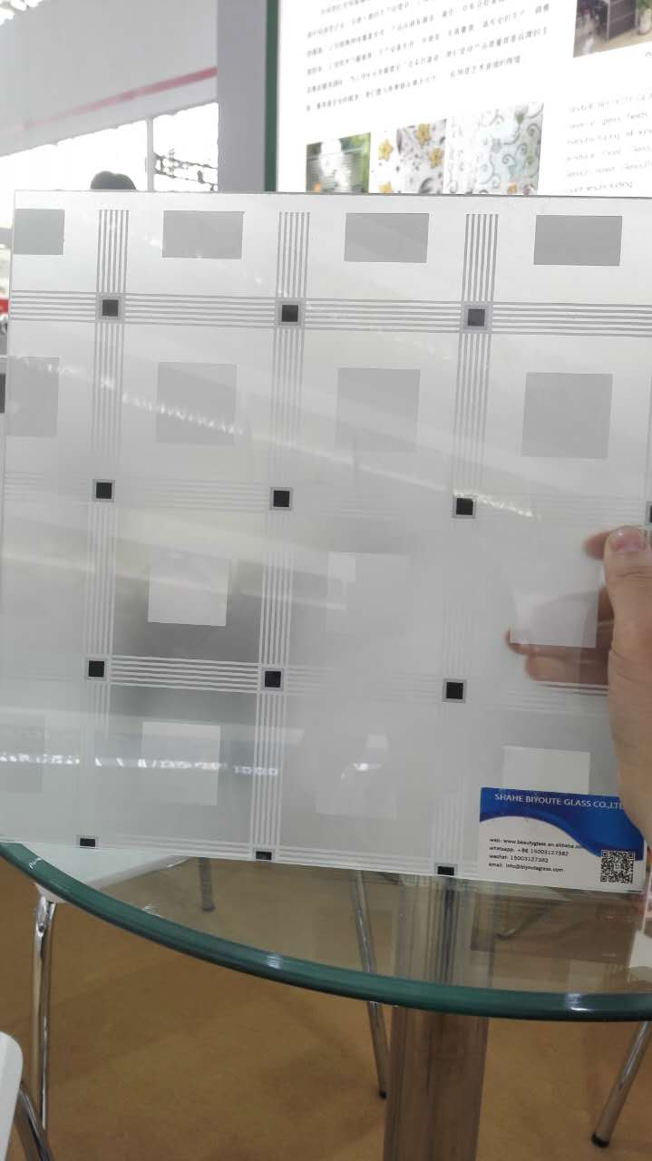5 / 4 /4.8 mm frosted glass,silk-screen printing glass 1650*2200 mm