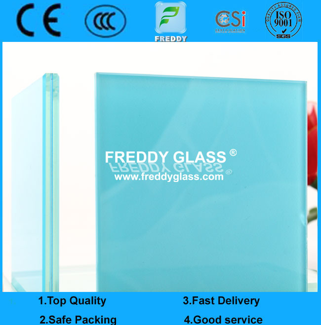 6.38mm safety colored Tempered Laminated Glass