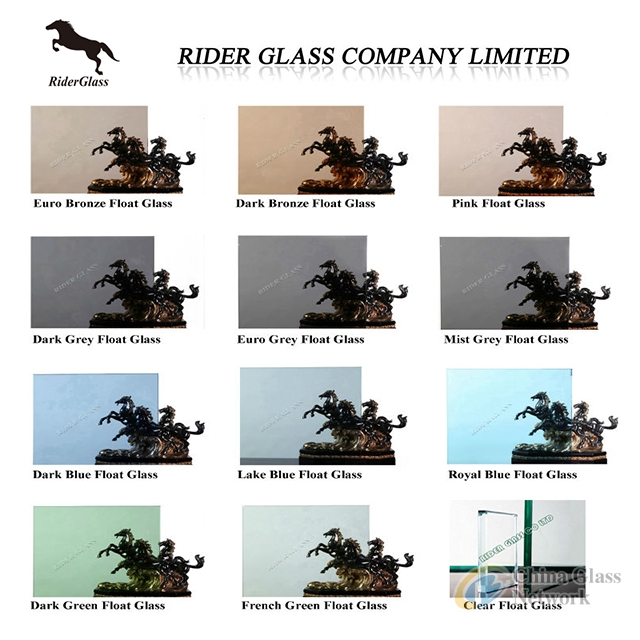 2-19mm CLEAR AND TINTED RIDER GLASS WITH CE AND ISO9001 (FLOAT GLASS, REFLECTIVE GLASS, TEMPERED GLASS)