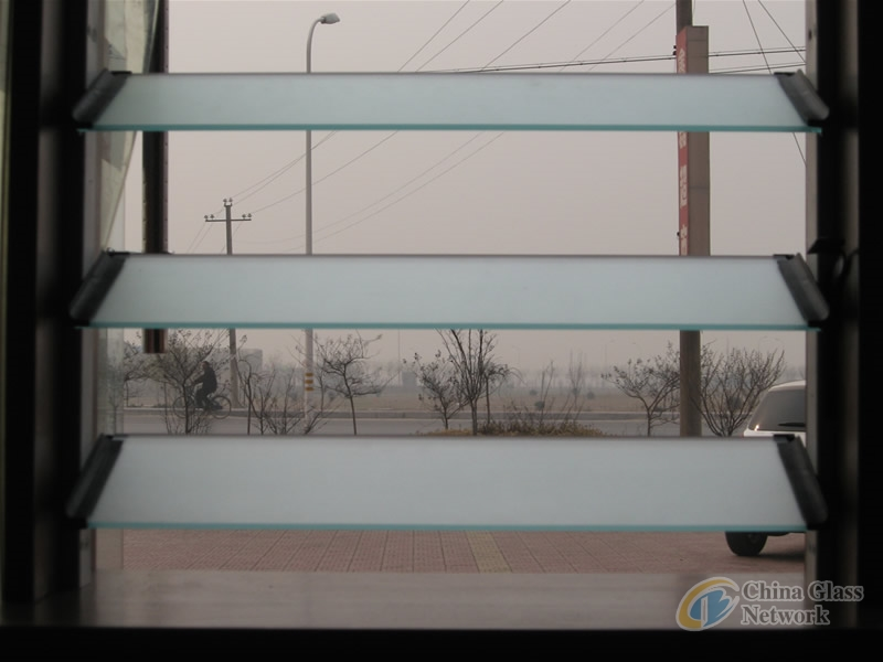 4-6mm Acid-Etched Louver Glass with High Quality