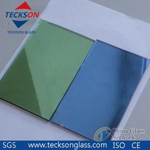 4-6mm Light Green Reflective Glass