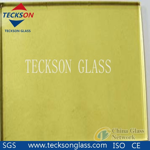 Golden Reflective Float Glass with High Quality