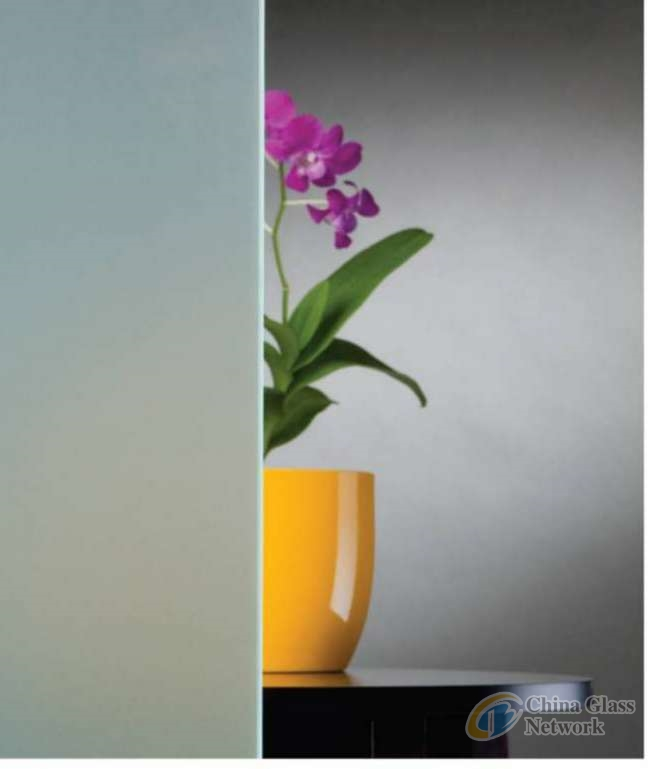 Frosted glass/acid etched glass/satinated glass/sandblasted glass