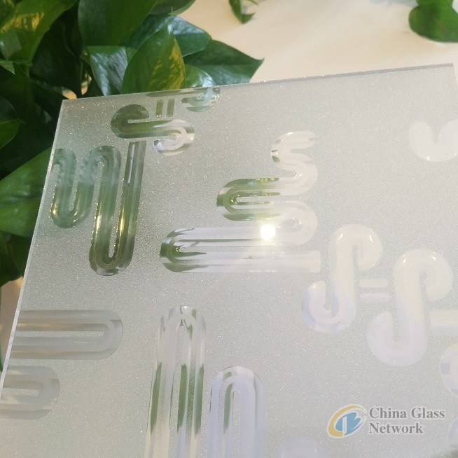 YAKA decoration glass,  types of YAKA patterns on frosted glass for glass door and window